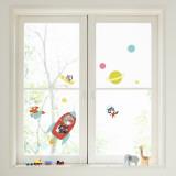 Rocket Window Decal Sticker Decalque de janela