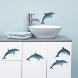 Dolphins (Water Resistant Decal) Wall Decal
