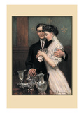 Tending the Silver Wall Decal by Clarence F. Underwood