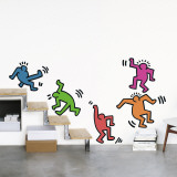 Five Dancing Figures Wall Decal by Keith Haring