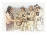 Three Corpsmen, Each Holding a Bear Cub Giclee Print by Roger Cooke