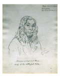 Portrait of Hirom or Coul-Coul-Tlua Chief of the Kettle Fall Tribe Giclee Print by Gustav Sohon
