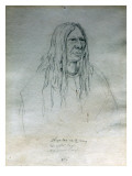 Portrait of Te-Pe-Lah-Na-Te-Many the Spotted Eagle Nez Perce Chief Giclee Print by Gustav Sohon