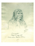 Portrait of Looking Glass Apash-Wa-Hay-Ikt Chief of the Nez Perce Indians Premium Giclee Print by Gustav Sohon