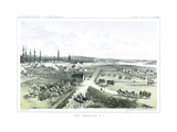Fort Vancouver, a Hudson Bay Company Establishment on the North Bank of the Columbia River Giclee Print by Gustav Sohon