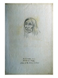 Portrait of the Broken Arm Muske-Pe-Toun Chief of the Cree Indians Giclee Print by Gustav Sohon