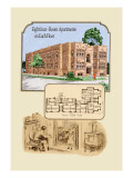 Eight Four-Room Apartments on Each Floor Wall Decal by Geo E. Miller