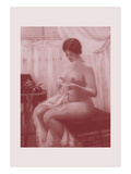 Nude in the Parlor Wall Decal by M. Everart