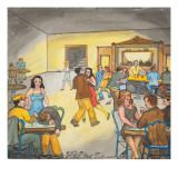 Women are Depicted Dancing with Male Partners for 10 Cents a Dance Giclee Print by Ronald Ginther