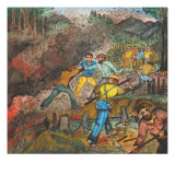 Men from the Skid Road of Seattle Fighting a Fire Giclee Print by Ronald Ginther