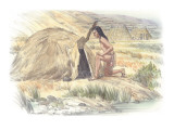 An Indian Man Is Preparing to Enter a Sweat Lodge Giclee Print by Roger Cooke