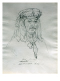 Portrait of Pier (Pierry) Moo-A-Tet Walla-Walla Chief Giclee Print by Gustav Sohon