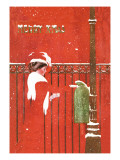 Christmas Greetings Wall Decal by C. Coles Phillips