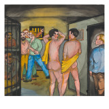 Men in the Seattle City Jail Giclee Print by Ronald Ginther