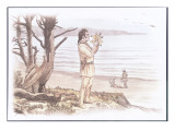 William Clark Is Standing on a Low Bluff Above the Ocean Giclee Print by Roger Cooke