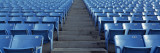 Empty Blue Seats in a Stadium, Soldier Field, Chicago, Illinois, USA Veggoverføringsbilde av Panoramic Images,