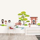 日本庭園ウォールステッカー・壁用シール ウォールステッカー