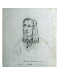 Portrait of James Delaware - a Delaware Indian Giclee Print by Gustav Sohon