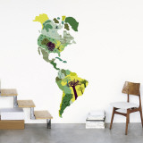 Continent Wall Decal