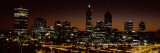 Buildings Lit Up at Dawn, Perth, Western Australia, Australia Wall Decal by  Panoramic Images