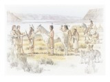 Indians are Giving or Trading a White Horse to Lewis and Clark Giclee Print by Roger Cooke