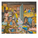 An Unemployed Lumber Worker and Family Living Ten in a Room Giclée-tryk af Ronald Ginther