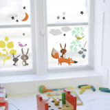 Animals and Tales  (Window Decal) Autocollant mural