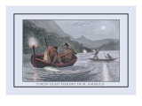 Torch Light Fishing in North America Wall Decal by J.h. Clark