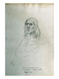 Portrait of Po-Nu-Cay-Ci-Nen-Nou Elk's Tong or Little Gray Head Piegan Chief Giclee Print by Gustav Sohon