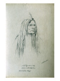 Portrait of Nat-Tos-So-Nis-Ta Medicine-White-Buffaloe Blood Indian Chief Giclee Print by Gustav Sohon