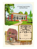 Tourist Camp Pavilion and Rest Home Wall Decal by Geo E. Miller
