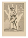 U.S. Marines, Uncle Sam's Right Hand Wall Decal by R. Mcbride