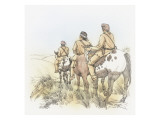 Three Corpsmen on Horseback Giclee Print by Roger Cooke