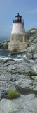 Lighthouse Along the Sea, Castle Hill Lighthouse, Narraganset Bay, Newport, Rhode Island, USA Wandtattoo von  Panoramic Images