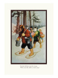 Teddy Roosevelt's Bears: The Snow-Shoe Club Wall Decal by R.k. Culver