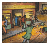 Unemployed are Waiting for Bakery Window to Cave In Giclee Print by Ronald Ginther