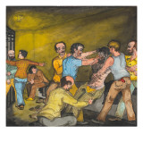 Inmate Smeared with Axle Grease Giclee Print by Ronald Ginther