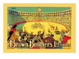 Brown Brothers Bicycles Wall Decal by J. Muntanya