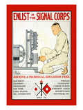 Enlist in the Signal Corps Wall Decal by J. Mcgibbon Brown
