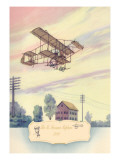 The H. Farman Plane, 1910 Wall Decal by Charles H. Hubbell