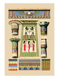 Egyptian Ornamental Architecture Wall Decal by J. Gardner Wilkinson