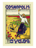 Cosmopolis Cyclos Wall Decal by A. Gual