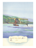 The Curtiss Hydro, 1911 Wall Decal by Charles H. Hubbell