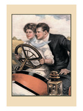 Love and Six Cylinders Wall Decal by Clarence F. Underwood
