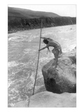 The Wishham Fisherman Wall Decal by Edward S. Curtis
