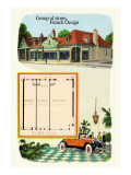 Group of Stores: French Design Wall Decal by Geo E. Miller