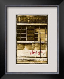 I Love You Framed Giclee Print by Pascal Normand