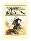 Puck Magazine: Anything for Popularity Wall Decal by William W. Denslow