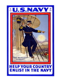 U.S. Navy, Help your Country, c.1917 Wall Decal by H.a. Ogden