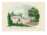 Garden House in a Village near Baroche, Guzerat Wall Decal by J. Forbes